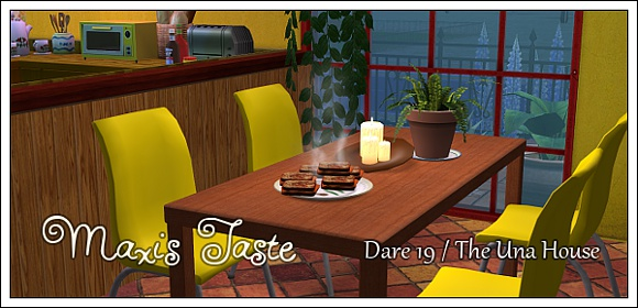 Maxis Taste Dare 19 - the Una House